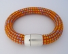 Armband Seil orange/gelb/grau